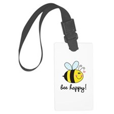 Bee Happy Luggage Tag