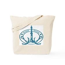 Genoa Passport Stamp Tote Bag