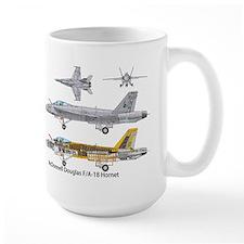 USS Nimitz CVN-68 F/A-18 Hornet Mug