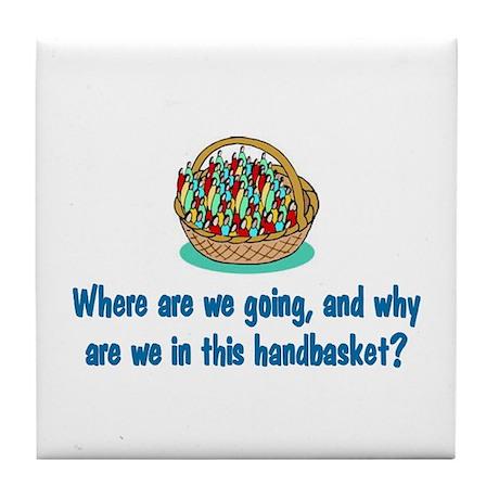 Handbasket Tile Coaster