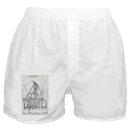 Sawmill, 16th century artwork - Boxer Shorts