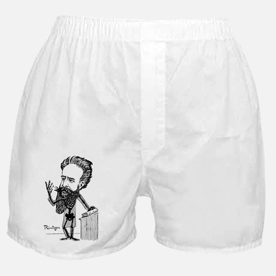Caricature of Roentgen and X-rays - Boxer Shorts