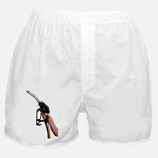 Fuel pump nozzle held in a hand - Boxer Shorts