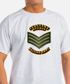 UK - Army - Sergeant - Retired T-Shirt