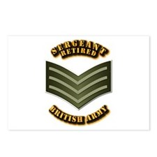 UK - Army - Sergeant - Retired Postcards (Package