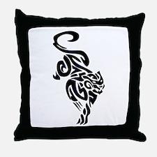 Black Panther Tribal Art 1 Throw Pillow