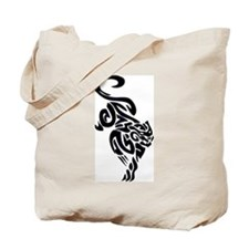 Black Panther Tribal Art 1 Tote Bag