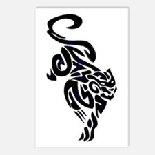 Black Panther Tribal Art 1 Postcards (Package of 8