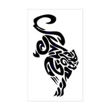 Black Panther Tribal Art 1 Rectangle Decal