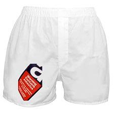 Asbestos warning sign - Boxer Shorts