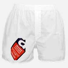 Asbestos warning sign - Boxer Shorts