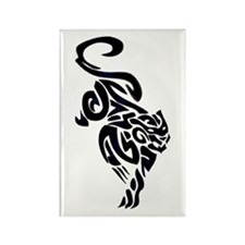 Black Panther Tribal Art 1 Rectangle Magnet