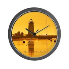 Edgartown Lighthouse, MV Wall Clock