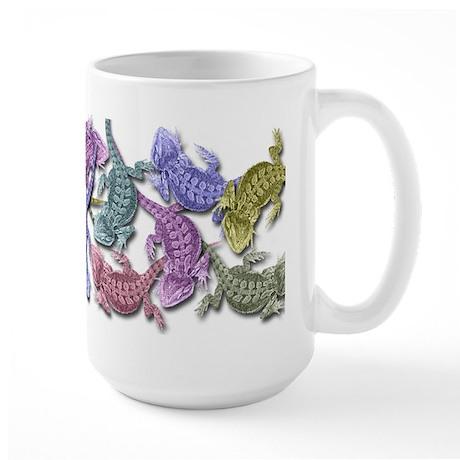 Bearded Dragon Colors Large Mug