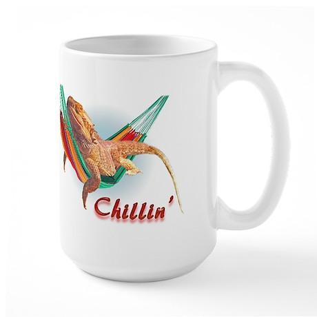 Bearded Dragon Chillin Large Mug