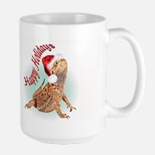 Bearded Dragon Happy Holiday Large Mug