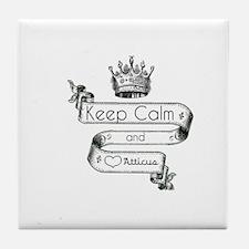 Keep Calm & Love Atticus Tile Coaster