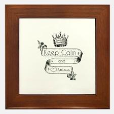 Keep Calm & Love Atticus Framed Tile