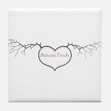 Love Atticus Tile Coaster