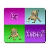 Bearded dragon Mouse Pads