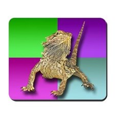 Bearded Dragon Colorblock Mousepad