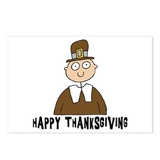 Happy Thanksgiving Boy Postcards (Package of 8)