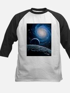 Artwork of a spiral galaxy - Kids Baseball Jersey