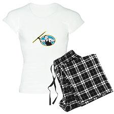 Javelin Throw Track and Field Athlete Pajamas