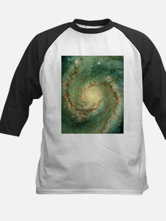 M51 whirlpool galaxy - Kids Baseball Jersey