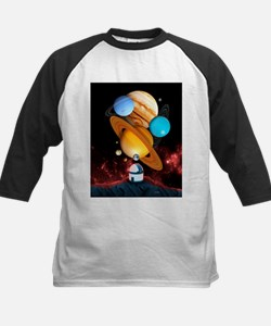 Observing the planets - Kids Baseball Jersey