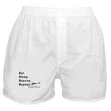 Flight Nurse eat sleep repeat Boxer Shorts