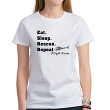Flight Nurse eat sleep repeat T-Shirt