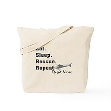 Flight Nurse eat sleep repeat Tote Bag