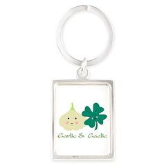 Garlic & Gaelic Portrait Keychain