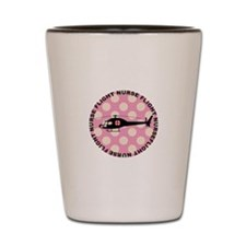 Flight Nurse Pink Polka dots Shot Glass