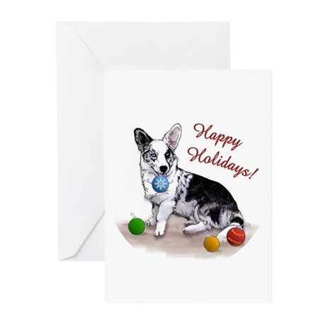 corgi--bluecardi--ornament Greeting Cards
