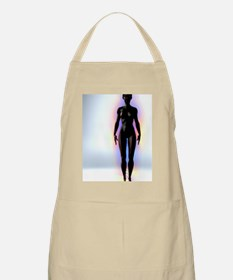 Naked woman's body with aura, artwork - Apron