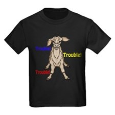 Trouble small text color T-Shirt