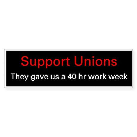 Demorcat: Pro-Union Support (Bumper)