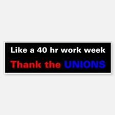 Demorcat: Pro-Union 40hr (Bumper)