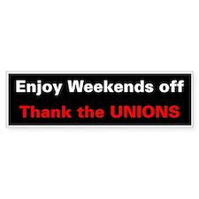 Demorcat: Pro-Union Items Bumper Car Sticker