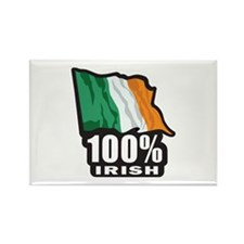 100% Irish/St. Patrick's Day Rectangle Magnet
