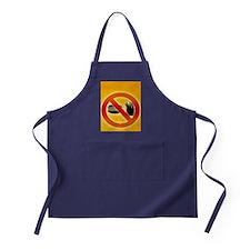 No fast food sign - Apron (dark)