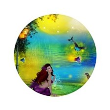 "Best Seller Merrow Mermaid 3.5"" Button"
