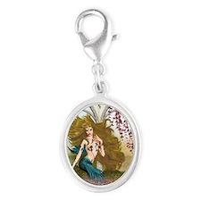 Best Seller Merrow Mermaid Silver Oval Charm