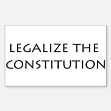 Legalize the Constitution Oval Decal