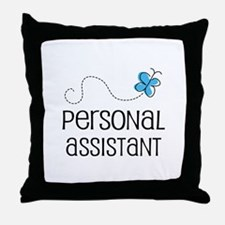Cute Personal assistant Throw Pillow