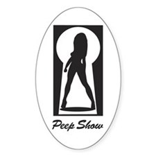 Peep Show Oval Decal