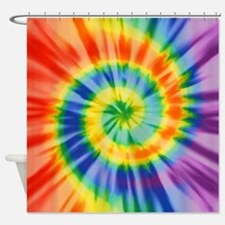 Printed Tie Dye Pattern Shower Curtain