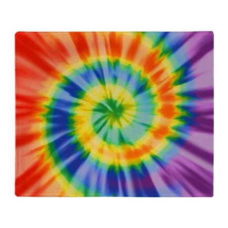 Printed Tie Dye Pattern Throw Blanket